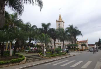 Praça Bom Jesus no centro de Matozinhos