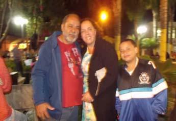 Olavo ao lado da esposa e do filho no último dia 14 de julho em Matozinhos