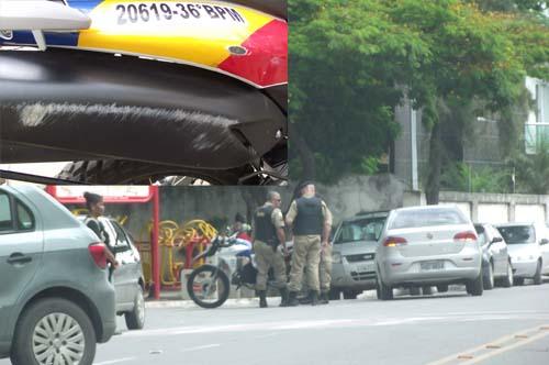 Acidente foi na entrada do estacionamento da Prefeitura