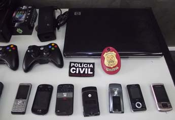 Material recuperado pela Polícia Civil