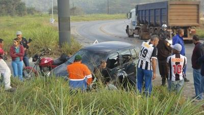Ocupantes do carro não tiveram ferimentos