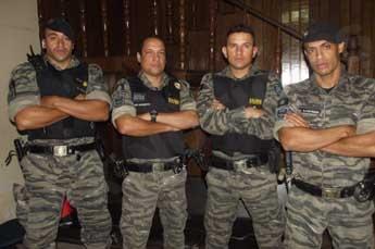 Militares que atuaram na ocorrência