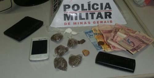 Material apreendido pela Polícia Militar
