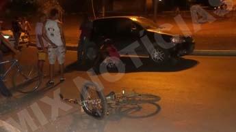 Ciclista teve escoriações pelo corpo