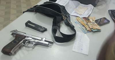 Arma de brinquedo foi usada no assalto