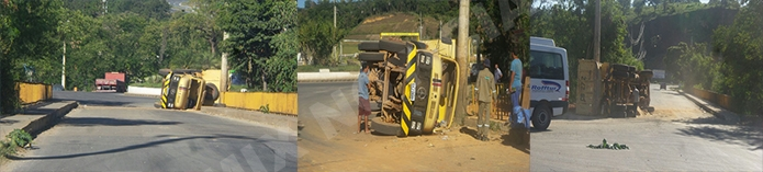 Imagens do local do acidente