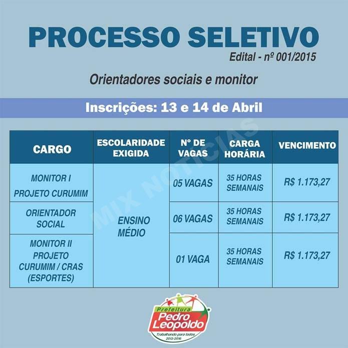 PROCESSO SELETIVO AÇÃO SOCIAL 695 x 695
