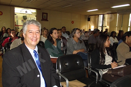 Chefe da Agência da Receita em PL - Eduardo Martins Coelho esteve na palestra