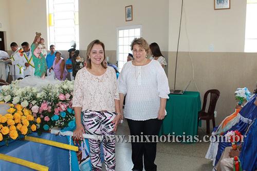 Prefeita Eloísa e Patrícia Rafael participaram da festa na Lagoa