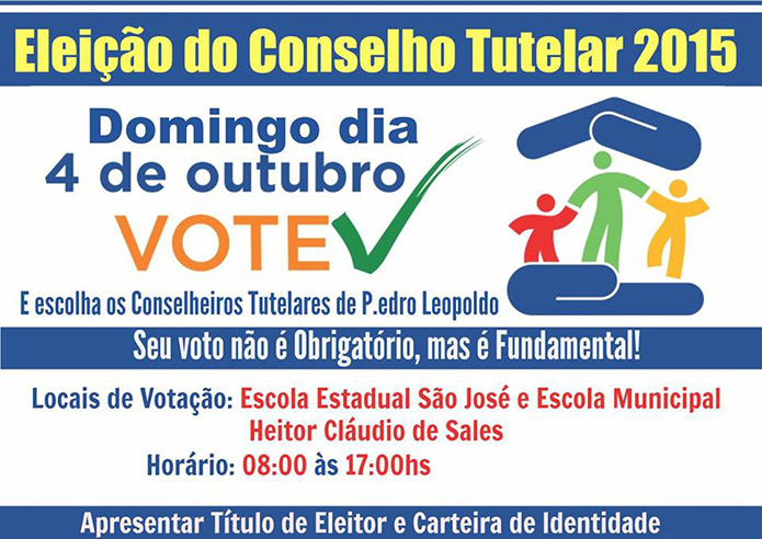 CONSELHO TUTELAR ELEIÇÃO 2015 695 X 492