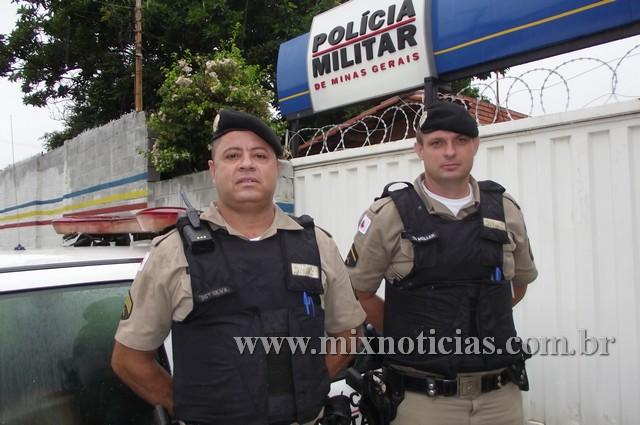 Sargento Moises Silva e Soldado Müller - 11ª Companhia Independente da PM