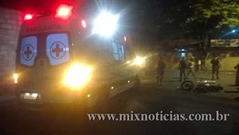 Ambulância de PL socorreu a vítima ao PA Central