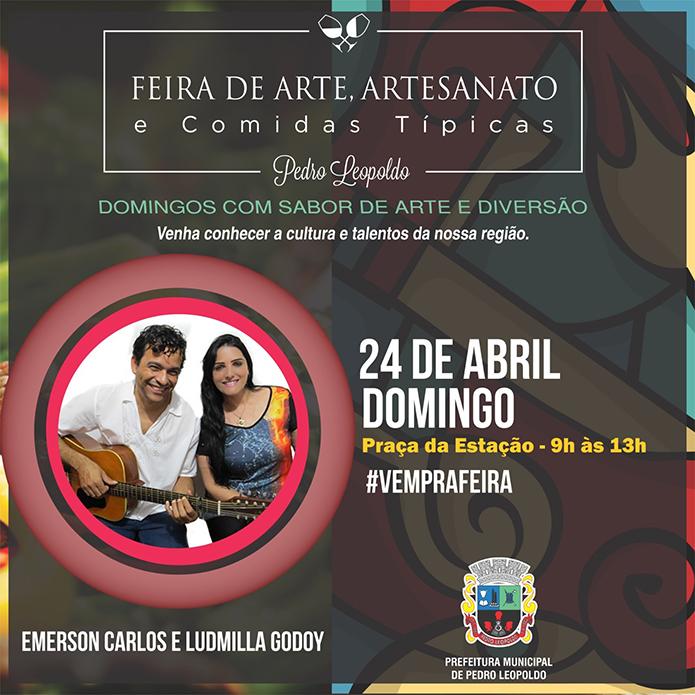 FEIRA 24 DE ABRIL (1) EMERSON CARLOS E LUDMILA