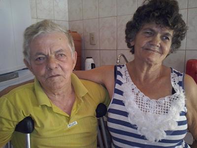 Antônio Alves e a esposa Maria Pacheco