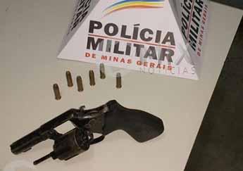 Arma encontrada com Marcelo