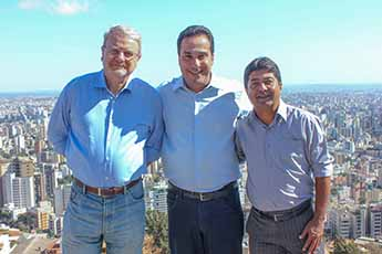 Na quarta (31) Marião e Salim visitaram o prefeito Márcio Lacerda em BH